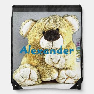 Mochila Con Cordones Bolso de lazo de HAMbWG - oso de peluche gigante