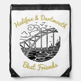 Mochila Con Cordones Bolso de lazo de los mejores amigos de Halifax