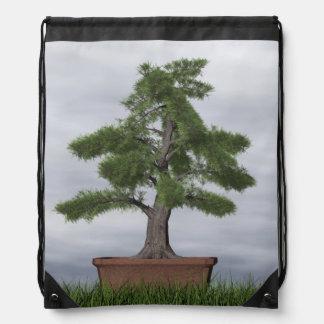 Mochila Con Cordones Bonsais del árbol del enebro del templo - 3D