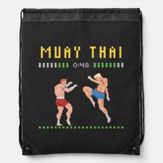 Mochila Con Cordones boxeo tailandés de 8 bits