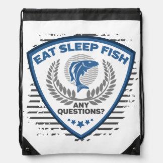 Mochila Con Cordones Coma los pescados del sueño cualquier pesca de las