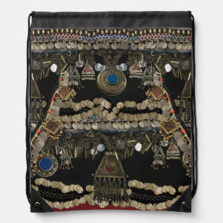 Mochila Con Cordones Danza de Belly tribal de Kuchi