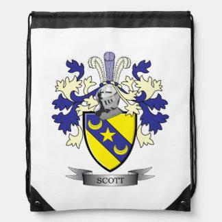 Mochila Con Cordones Escudo de armas del escudo de la familia de Scott