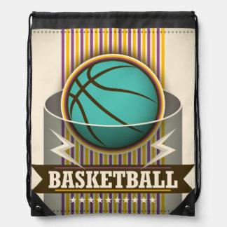 Mochila Con Cordones Juego de pelota del deporte del baloncesto fresco