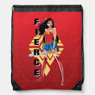 Mochila Con Cordones Mujer Maravilla con la espada - feroz