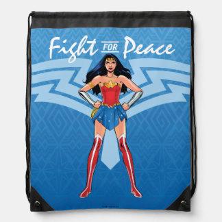 Mochila Con Cordones Mujer Maravilla - lucha para la paz