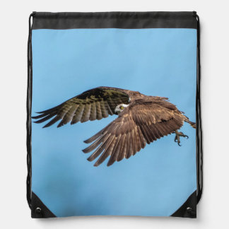 Mochila Con Cordones Osprey en vuelo en el parque de isla estado de la