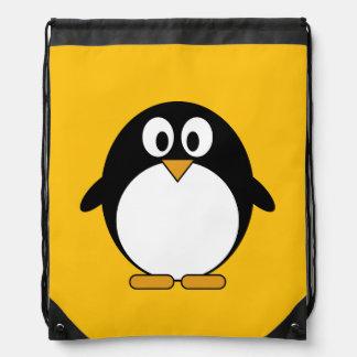 Mochila Con Cordones Pingüino lindo y moderno del dibujo animado