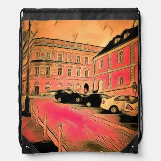 Mochila Con Cordones Pintura de Sibiu