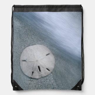 Mochila Con Cordones Sanddollar en la isla de la playa el   Sanibel, la