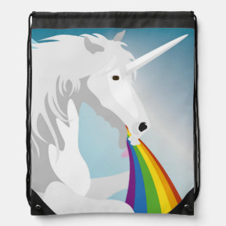 Mochila Con Cordones Unicornios puking del ejemplo