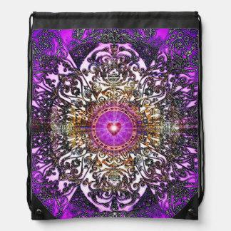 Mochila Con Cordones V029- Mandada púrpura