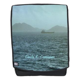 Mochila Con la escena marítima de la niebla personalizada
