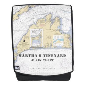 Mochila Coordenadas náuticos del mA del Martha's Vineyard