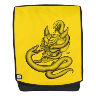 Mochila Cráneo - cabeza del diablo con la serpiente