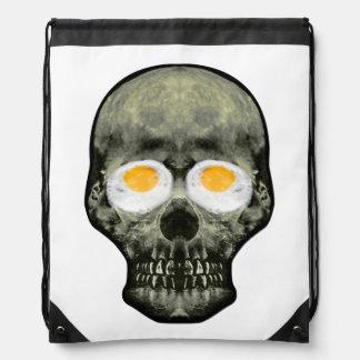 Mochila Cráneo con los ojos del huevo frito