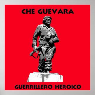 Mochila de Che Guevara con la estatua de Che Póster