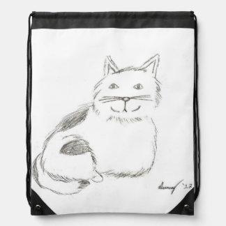 Mochila del bosquejo del gatito