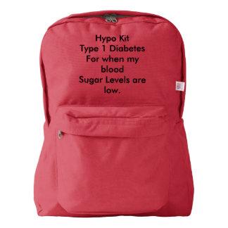 Mochila del hypo de la diabetes del tipo 1