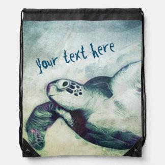 Mochila del lazo de la tortuga de mar verde que