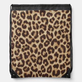 Mochila del lazo del estampado leopardo