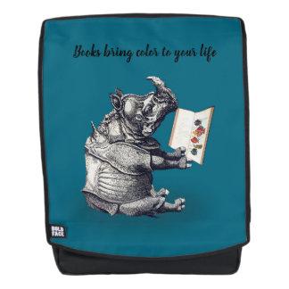 Mochila El rinoceronte de la lectura ama los libros