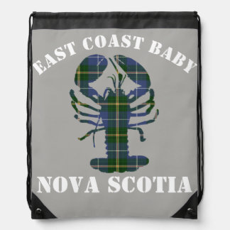 Mochila Gris del tartán de la langosta de Nueva Escocia