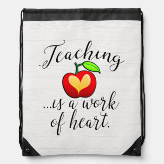 Mochila La enseñanza es un trabajo del aprecio del