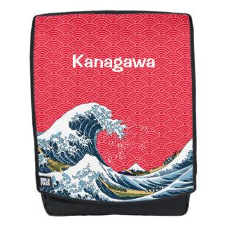 Mochila La gran onda con el modelo de onda japonés