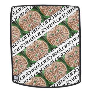 Mochila Mochila, la bolsa, nudo celta, Irlanda, verde