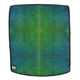 Mochila Mochila, la bolsa, nudo celta, verde, azul,