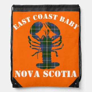 Mochila Naranja del tartán de la langosta de Nueva Escocia