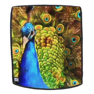 Mochila Pavo real colorido