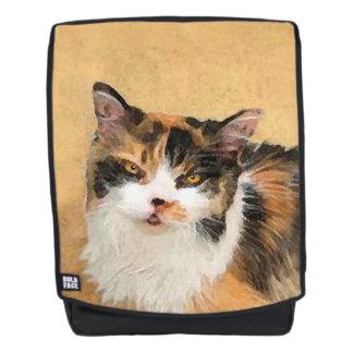 Mochila Pintura del gato de calicó - arte original lindo