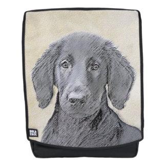 Mochila Pintura Plano-Revestida del perro perdiguero -