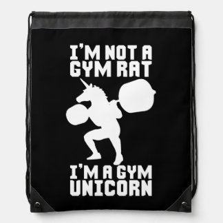Mochila Rata del gimnasio contra el unicornio del gimnasio