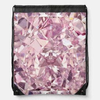 Mochila rosada del lazo del diamante