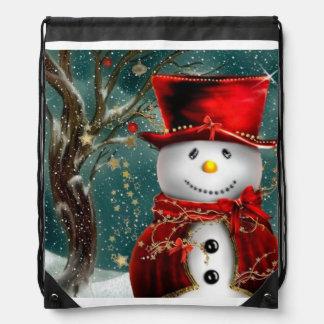 Mochila Snowmans lindos - ilustracion del muñeco de nieve