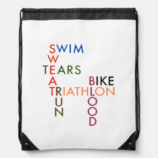 Mochila Sudor y rasgones de la sangre del Triathlon