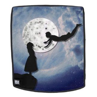 Mochila vuéleme al universo del corte del papel de la luna