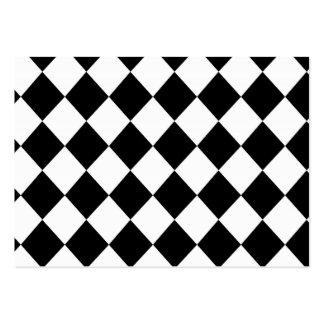 MOD a cuadros negra que compite con el modelo Tarjetas De Visita