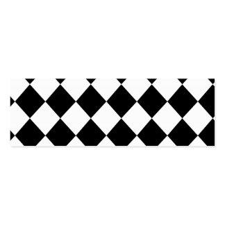 MOD a cuadros negra que compite con el modelo Tarjetas De Visita Mini