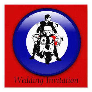 MOD de los años 60 en invitaciones de la blanco 3d Invitación 13,3 Cm X 13,3cm