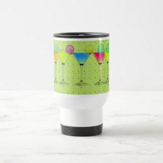 Mod-Elegant-Martini-Lime_Crocus-Garden-Floral Taza De Viaje