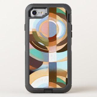 MOD retra Brown y modelo azul del círculo de Funda OtterBox Defender Para iPhone 8/7