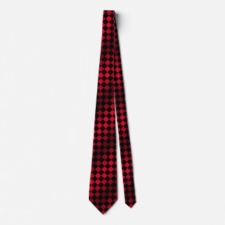 MOD retra del tablero de ajedrez rojo y negro de Corbatas Personalizadas