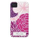 MOD rosada y púrpura floral iPhone 4 Case-Mate Funda