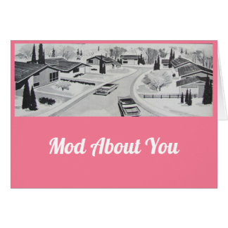 MOD sobre usted tarjeta del día de San Valentín