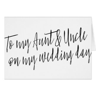 """Moda """"a mi tía y tío mi encendido día de boda """" tarjeta de felicitación"""