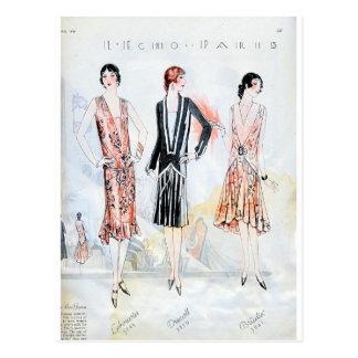 Moda, abril de 1928 postal